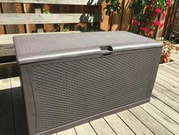 120-Gal Waterproof Outdoor Storage Box Large Bench Deck Box