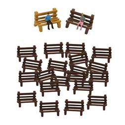 20x Long Bench Modern Micro Table Outdoors Scenery Decorativ