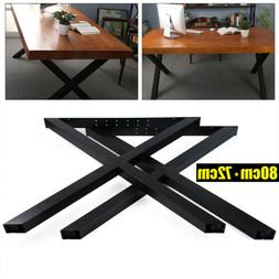 2PCS Metal Black Dining Table Bench Legs For Coffee Office H