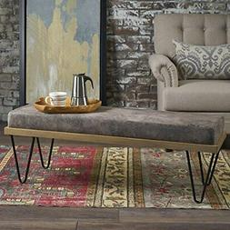 Great Deal Furniture 302218 Elaina Bench | Perfect for Dinin
