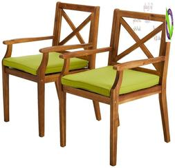 Great Deal Furniture 304683 Peter | Outdoor Acacia Wood Dini