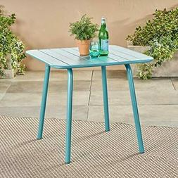 Great Deal Furniture 305230 Jayden Outdoor Iron Dining Table