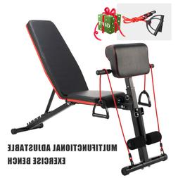 Adjustable Weight Bench Home Gym Workout Exercise Equipment