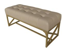 """eHemco 41"""" Modern Faux Leather Bench"""