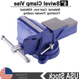 "5"" Heavy Duty Work Bench Vice Vise Workshop Clamp Engineer J"