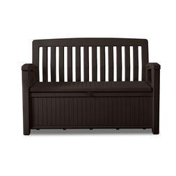 Keter 60 Gallon Storage Deck Box Bench Seat Black Outdoor Fu