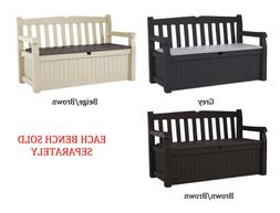 70 Gallon Storage Bench Deck Box for Patio Decor and Comfort