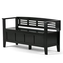 Simpli Home - Adams Entryway Storage Bench - Black