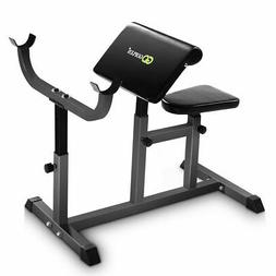 Adjustable Commercial Preacher Arm Curl Weight Bench Seat Du