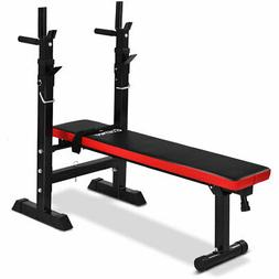 Costway Adjustable Folding Weight Lifting Flat Incline Bench