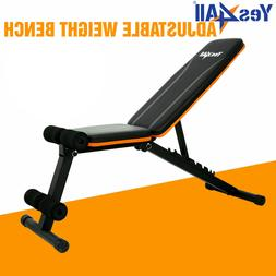 Yes4All Adjustable Weight Bench Lifting Incline Foldable Ful