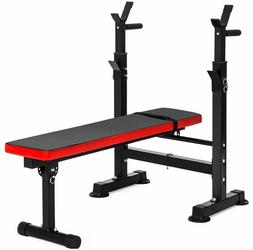adjustable weight bench press barbell rack exercise