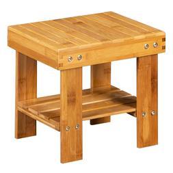 Bath Shower Stool Bathtub Spa Bench Chair Seat Bamboo Wood F