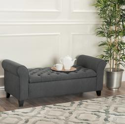 Bed Ottoman Bench Soft With Storage For Hallway Entry Large