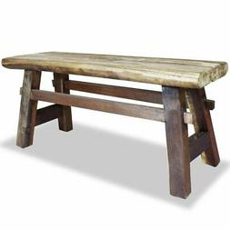 bench solid reclaimed wood 39 4 x11
