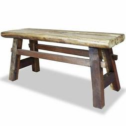 "vidaXL Bench 39.4"" Solid Reclaimed Wood Rustic Seat Entryway"