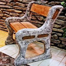 Bench Plastic molds for concrete for garden Plaster Stone Ti