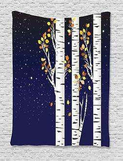 Birch Tapestry Wall Hanging Decoration for Room 2 Sizes Avai