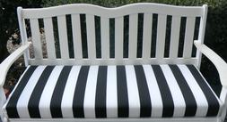 Black & White Stripe Foam Cushion for Bench Swing Glider ~ O