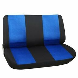 Adeco Black/ Blue Universal Car Bench Seat Cover Blue