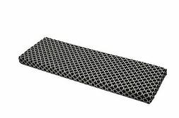 Black White Geometric Hockley Cushion for Bench~Swing, In /