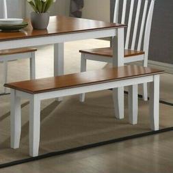 Bloomington Wooden Kitchen Bench - Finish: White / Honey Oak