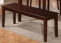 East West Furniture CAB-MAH-W Bench with Wood Seat, Mahogany