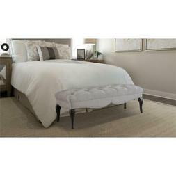 camari upholstered bench silver grey