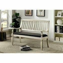 Furniture of America Cassie Bench in Antique White