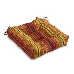 Outdoor Chair Cushion - Color: Kinnabari Stripe