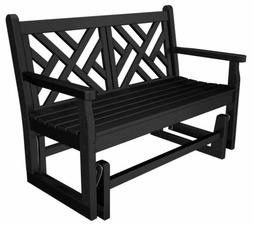 POLYWOOD® Chippendale Glider Bench 4ft Traditional Colors