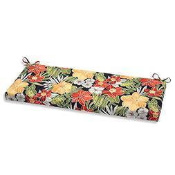 Pillow Perfect Outdoor Clemens Bench Cushion, Noir