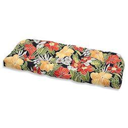 Pillow Perfect Outdoor Clemens Wicker Loveseat Cushion, Noir
