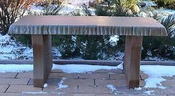 "Concrete mold bench top long 40"" cover cement concrete bench"