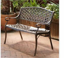Copper Aluminum Bench Christopher Knight Rust Proof Brown Pa
