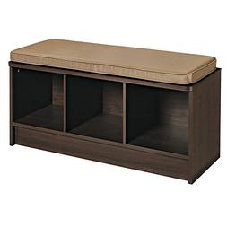 Cubeicals 3 Cube Storage Bench, Espresso