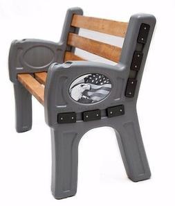 EZ Bench - Custom Outdoor Bench - Plastic Bench ends: Americ