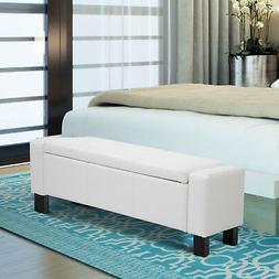 HOMCOM Deluxe Bench Footstool Coffee Furniture Storage Ottom
