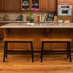 Toluca Saddle Wood 24-Inch Counter Dining Bench