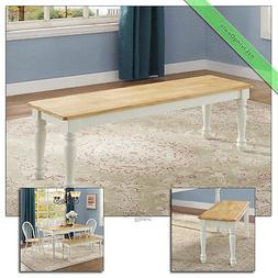 Dining Bench Farmhouse Wood for Kitchen Room Country Accent