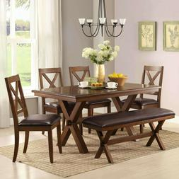 Dining Room Table Set Farmhouse Wooden Kitchen Tables And Ch