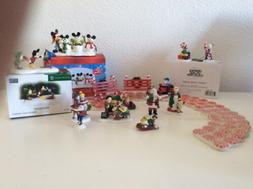 Disney and North Pole Dept 56 Christmas Lot Elves Mickey Min