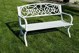 "Elegance Welcome Design Outdoor Park Bench Backyard Yard 50"""