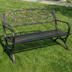 "Elegance Welcome Design Outdoor Park Bench Yard Backyard 50"""