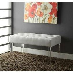 Linon Ella Acrylic Leg Bench