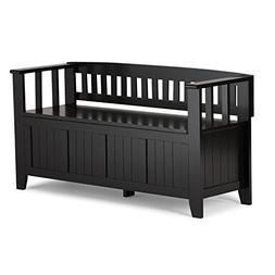 Entryway Bench in Black Finish