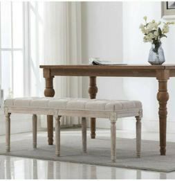 Chairus Fabric Upholstered Dining Bench