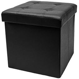 Sorbus Storage Ottoman – Collapsible/Folding Cube Ottoman