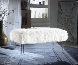 Iconic Home FBH2649-AN Trento Contemporary Faux Fur Acrylic