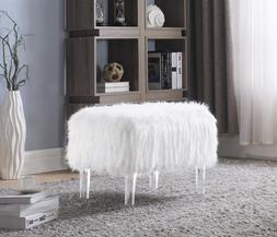 Iconic Home Fiorino Modern Contemporary Faux Fur Acrylic Leg